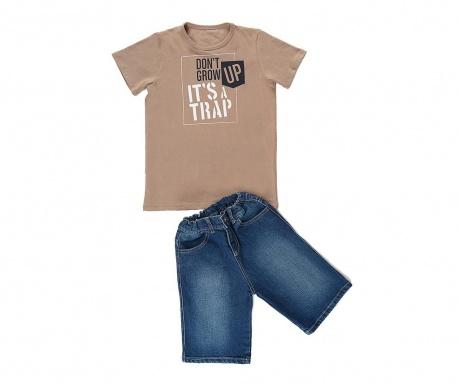 Σετ παιδικό κοντομάνικο μπλουζάκι και παντελόνι Trap