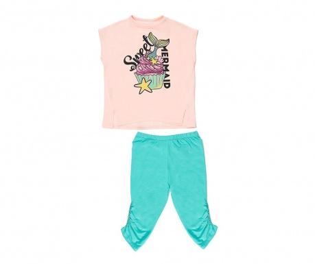 Σετ παιδικό μπλουζάκι και κολάν Sweet Mermaid