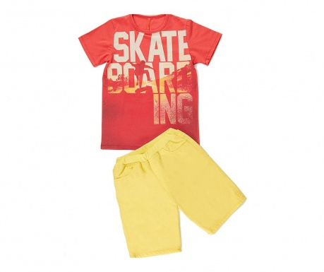Σετ παιδικό κοντομάνικο μπλουζάκι και παντελόνι Skate