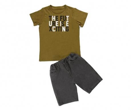 Σετ παιδική κοντομάνικη μπλούζα και παντελόνι Future Denim