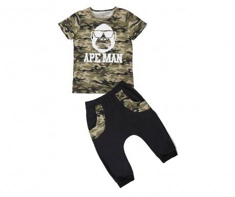 Σετ παιδική κοντομάνικη μπλούζα και παντελόνι Apeman Camo