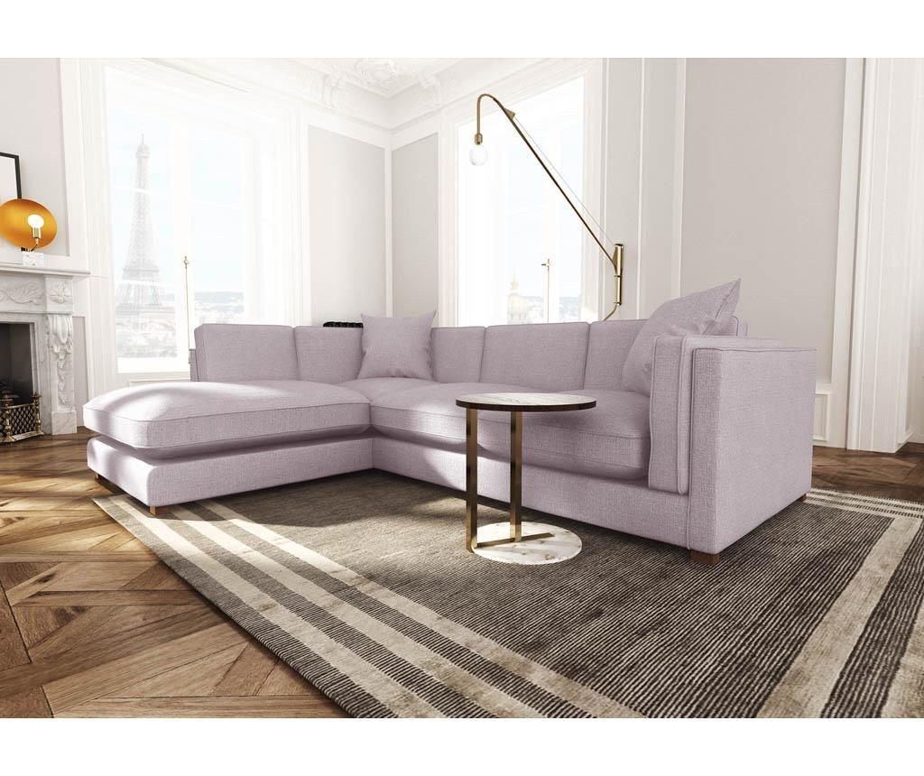 Coltar stanga Organdi Big Angle Lilac