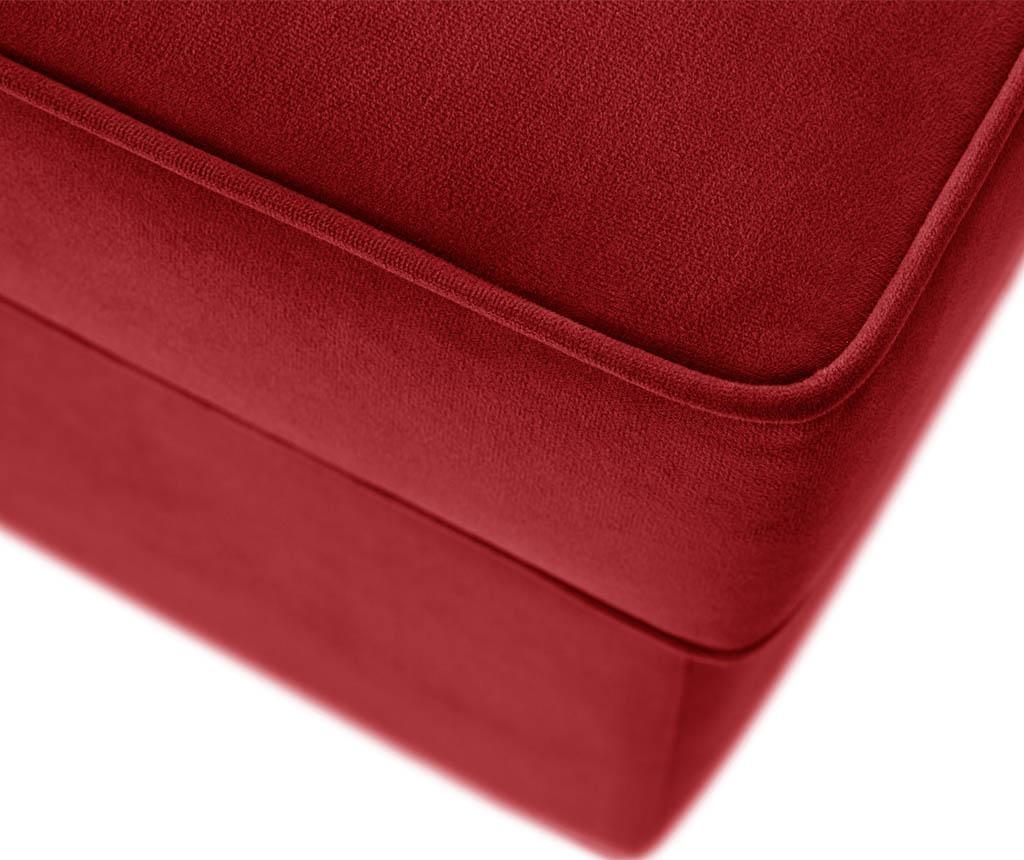 Coltar stanga Taffetas Angle Narrow Red