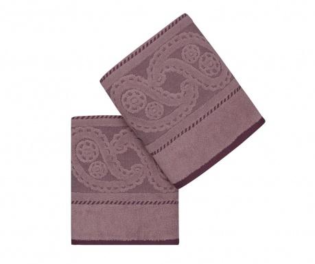 Sada 2 uteráky Hurrem Lilac 50x90 cm