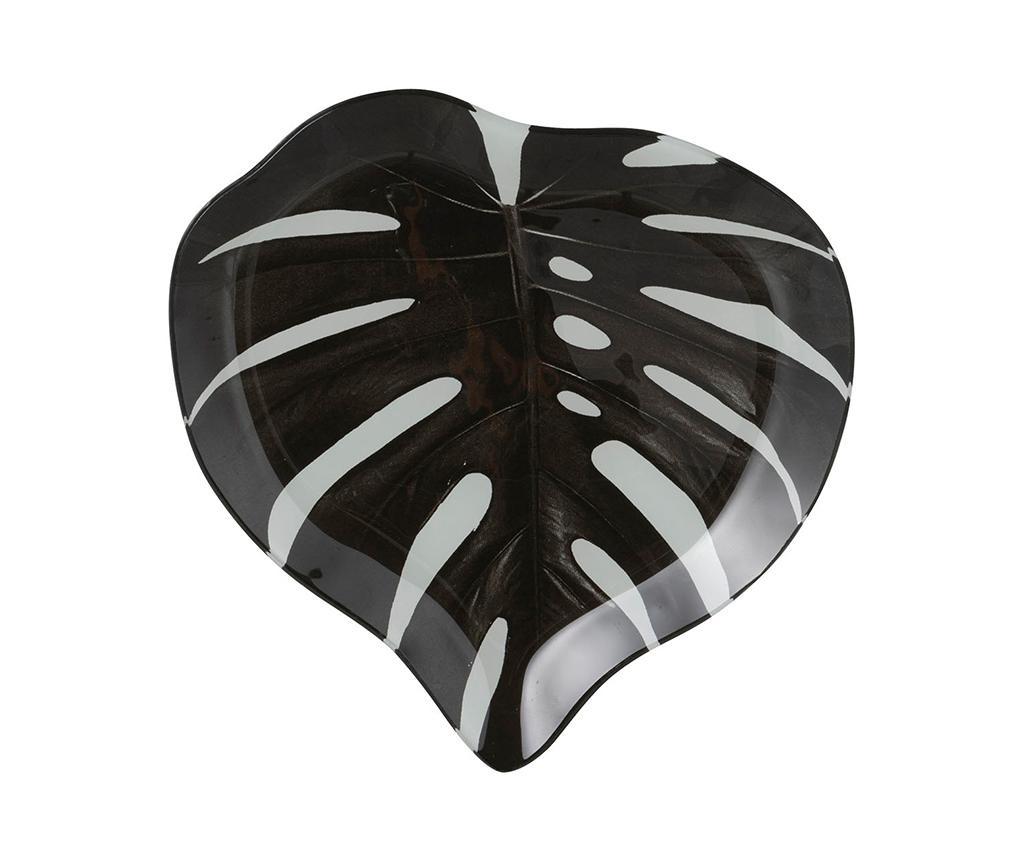 Platou decorativ Glass Leaf S