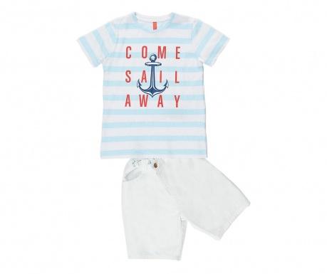 Σετ παιδικό κοντομάνικο μπλουζάκι και παντελόνι Sail