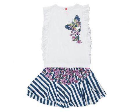 Σετ παιδική φανέλα και φούστα Butterfly