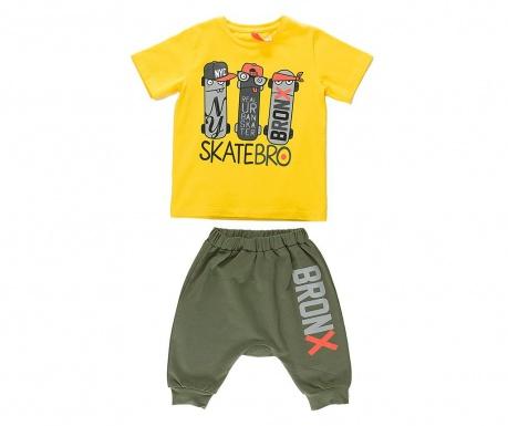 Σετ παιδική κοντομάνικη μπλούζα και παντελόνι Bronx Baggy