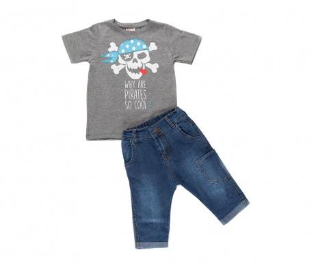 Σετ παιδική κοντομάνικη μπλούζα και παντελόνι Cool Pirates