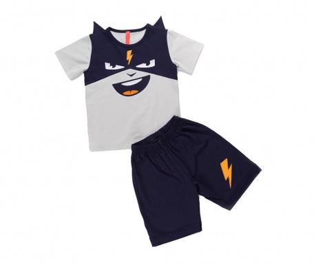 Σετ παιδική κοντομάνικη μπλούζα και σορτσάκι Cool Thunder