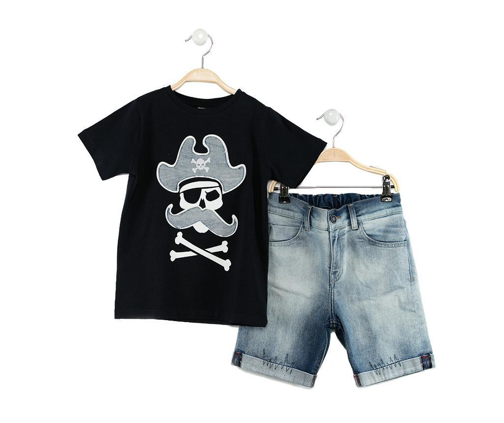 Set tricou si pantaloni scurti copii Pirates Jean 7 ani