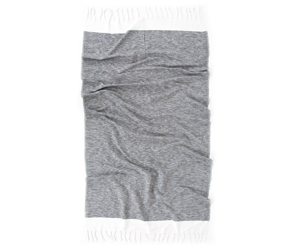 Prosop de baie Pestemal Sare Grey 90x170 cm