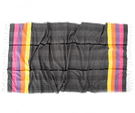 Кърпа за баня Pestemal New Meltem Black 90x170 см