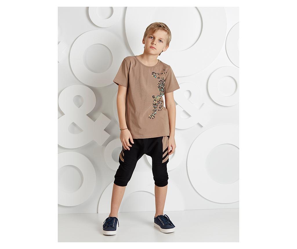Otroški komplet - majica s kratkimi rokavi in hlače Leopard 8 let