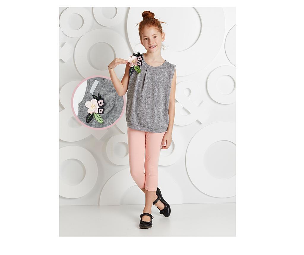 Otroški komplet - majica brez rokavov in pajkice Flower Shoulders 8 let