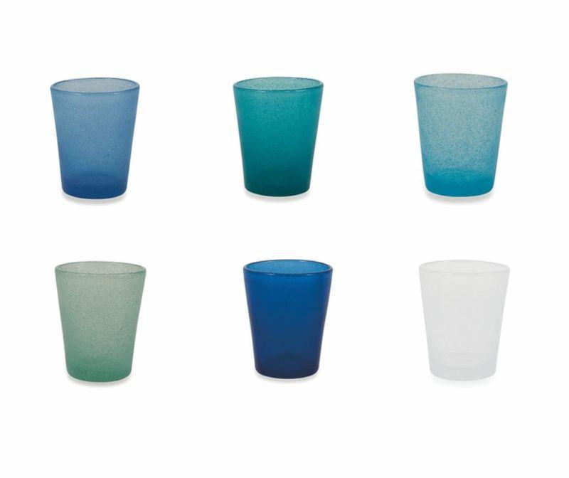 Set 6 kozarcev za vodo Cancun Marea 330 ml