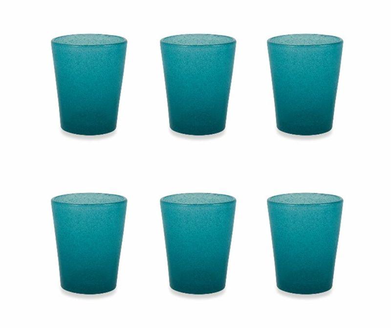 Set 6 pahare pentru apa Cancun Satin Tiffany Blue 330 ml