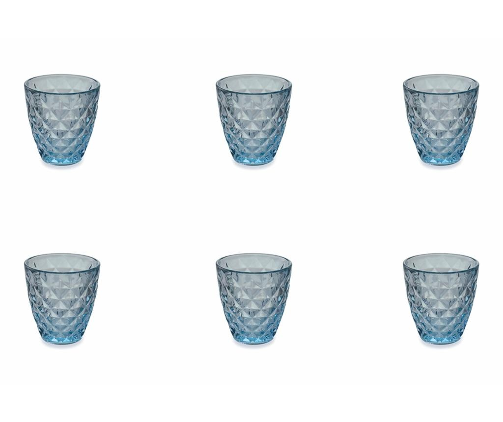 Set 6 pahare pentru apa Fresh Blue 257 ml