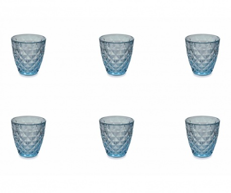 Сервиз 6 чаши за вода Fresh Blue 257 мл