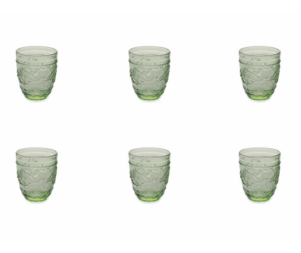 Set 6 kozarcev za vodo Syrah Green 324 ml