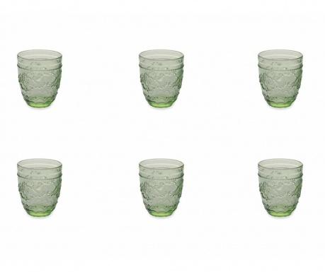 Сервиз 6 чаши за вода Syrah Green 324 мл