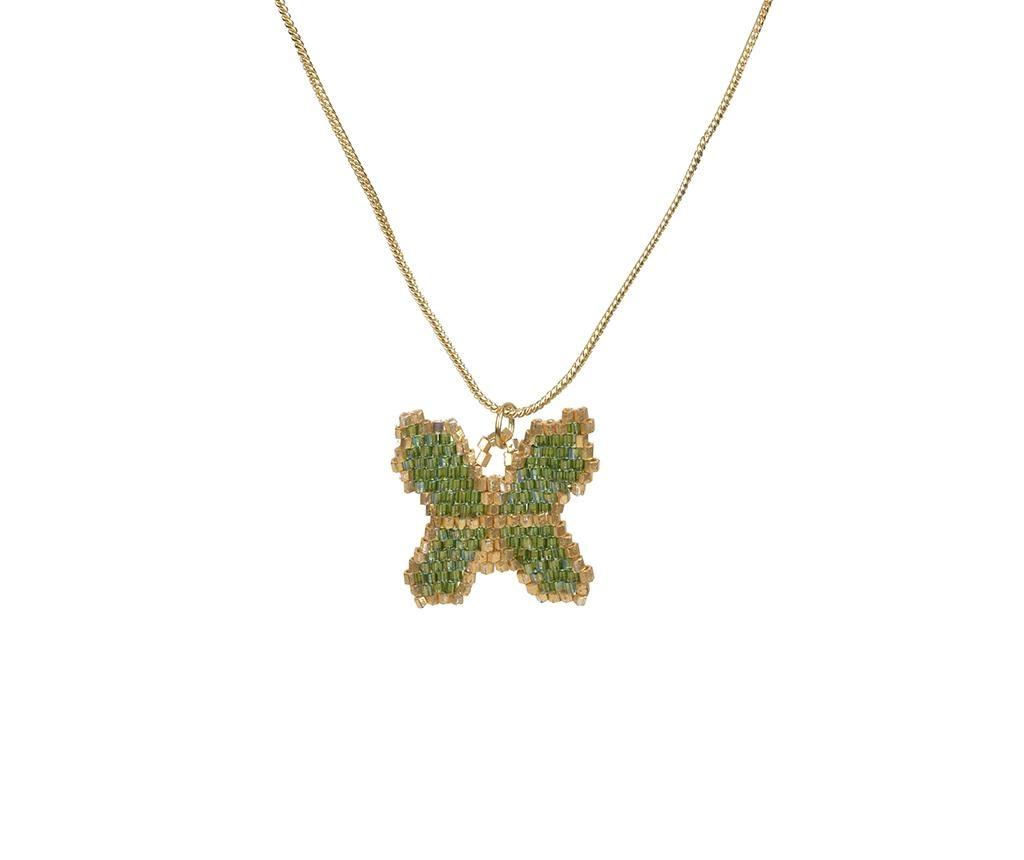 Верижка с висулка Bohemian Butterfly Green