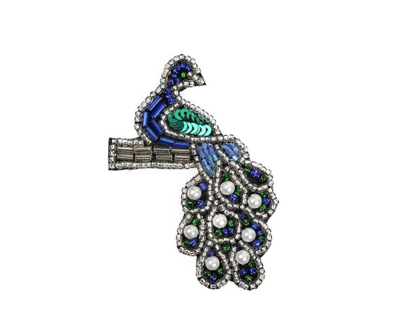 Брошка Forget Me Not Peacock