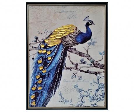 Картина Golden Peacock 63x83 см