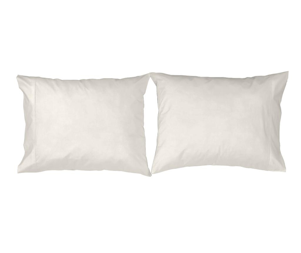 Set 2 fete de perna Casual White 50x80 cm