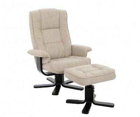 Комплект фотьойл и табуретка за крака Limbo Sand Fabric