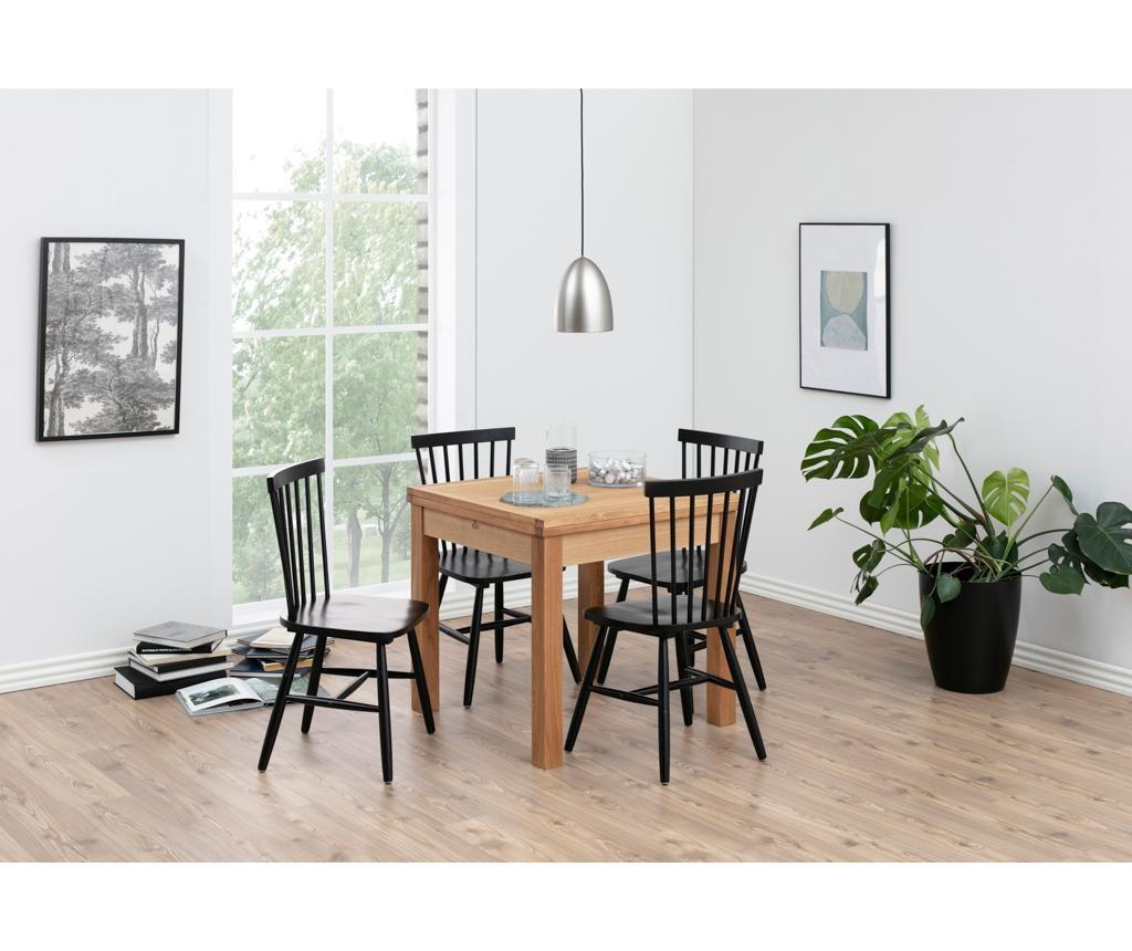 Set 2 stolov Riano Black