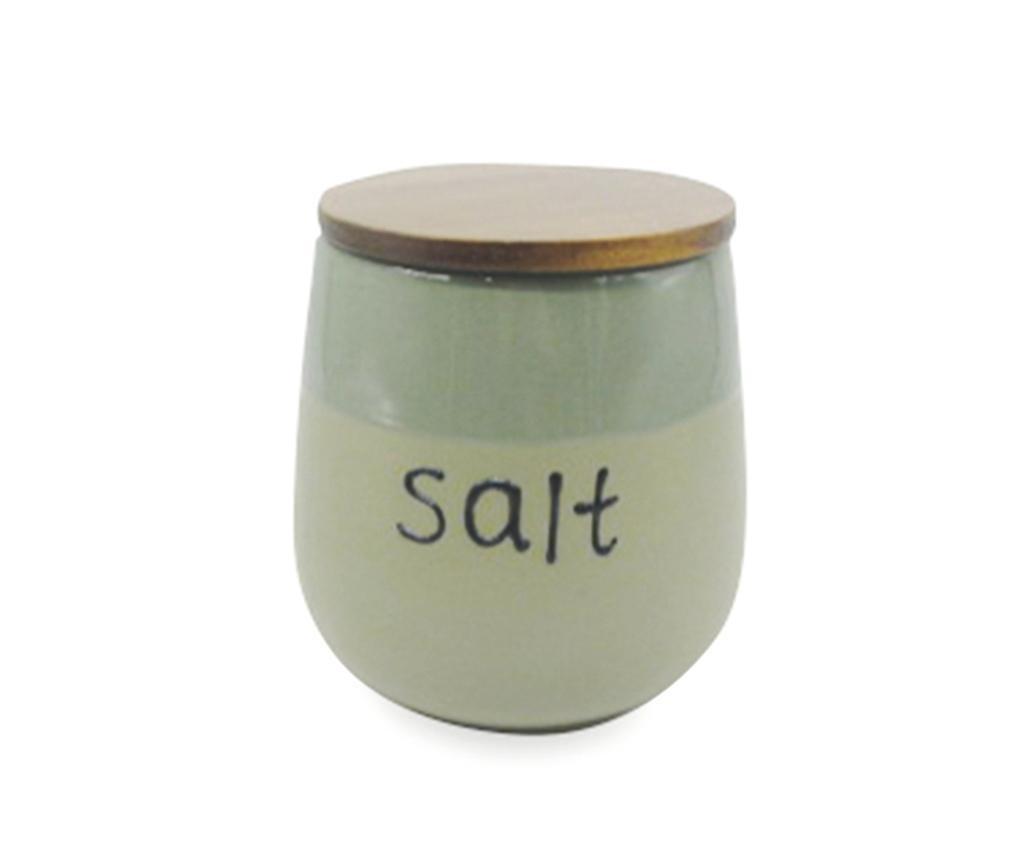 Recipient cu capac ermetic pentru sare Mocaccino Duo Green