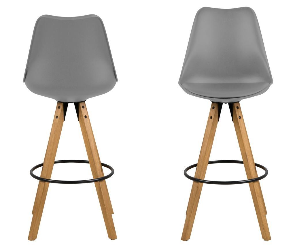 Sada 2 barových židlí Dima Grey