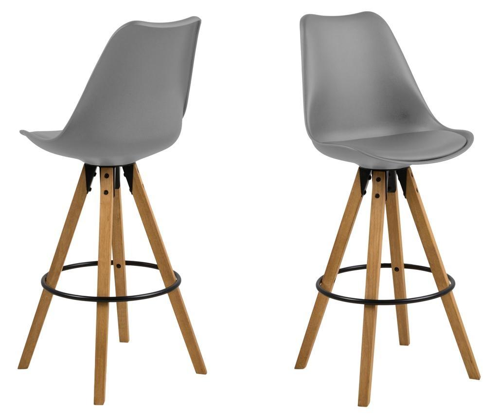 Set 2 scaune de bar Dima Grey