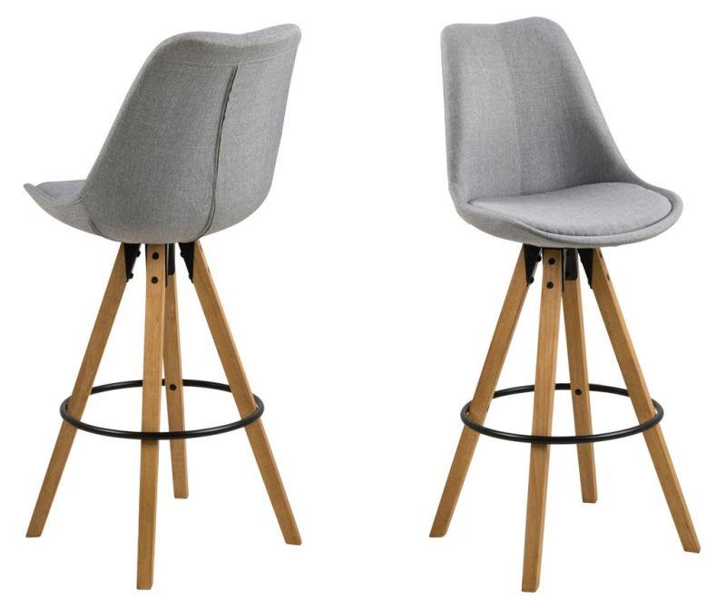 Sada 2 barových stoličiek Dima Corsica Light Grey