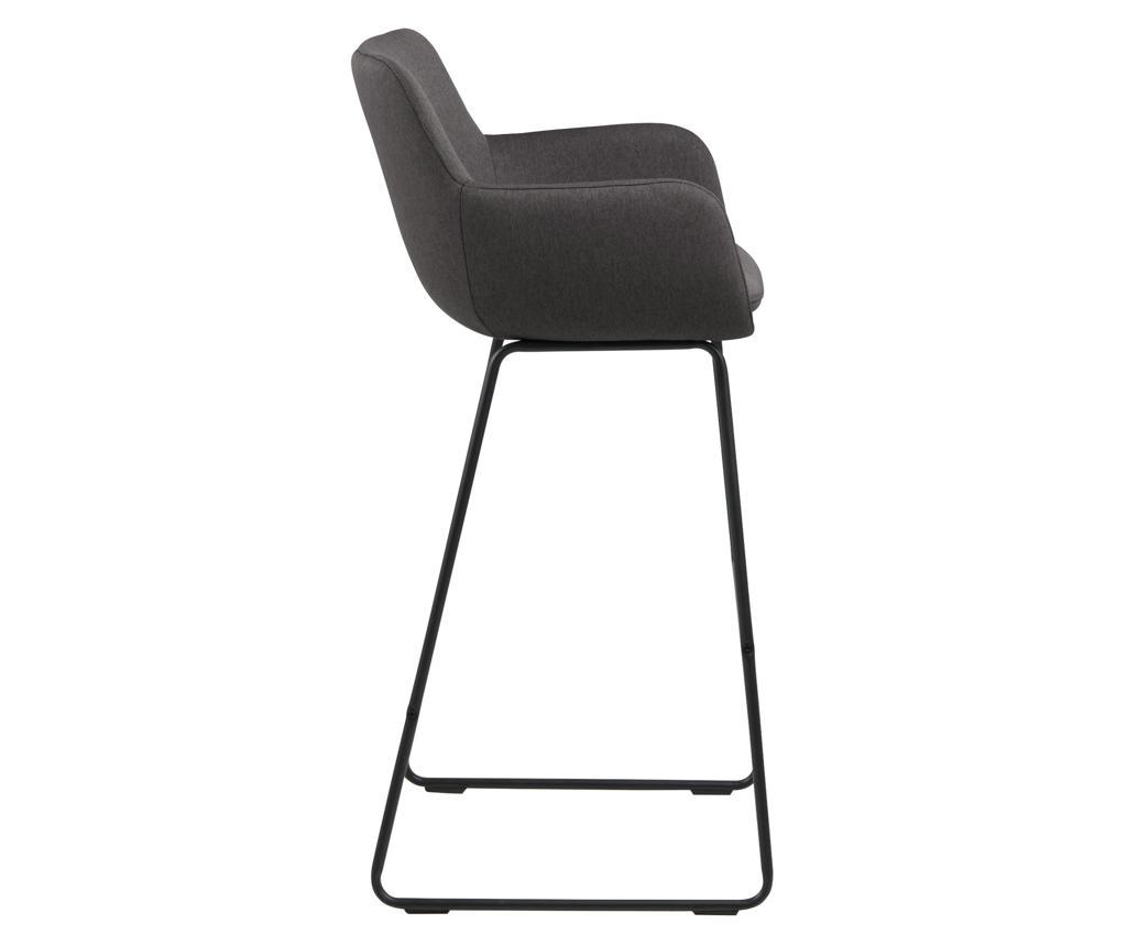 Set 2 scaune de bar Lisa Dark Grey