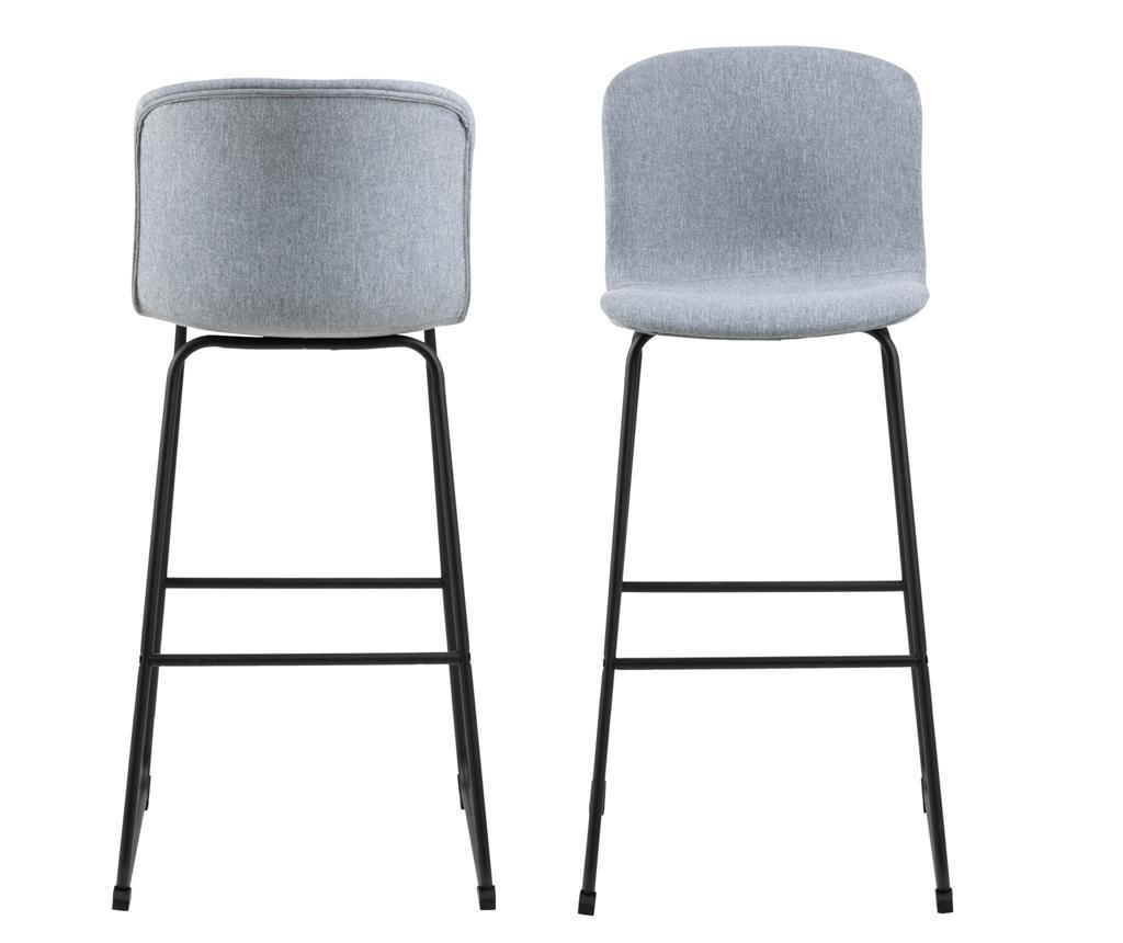 Set 2 scaune de bar Story Light Grey