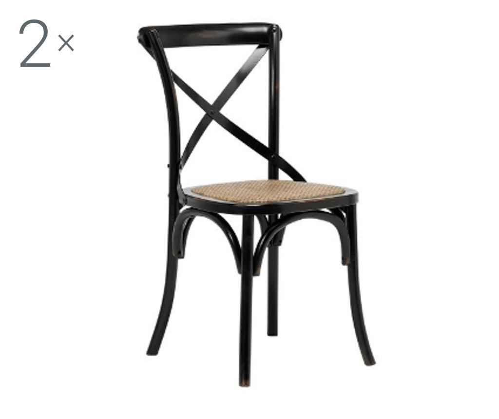 Set 2 scaune Vintage Black