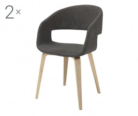 Комплект 2 стола Nova Dark Grey