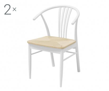 Комплект 2 стола York White