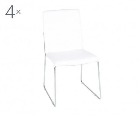 Комплект 4 стола Kitos White