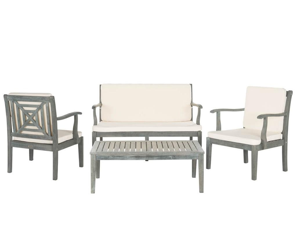 Set stol 2 stolice i klupa za vanjski prostor Monaco