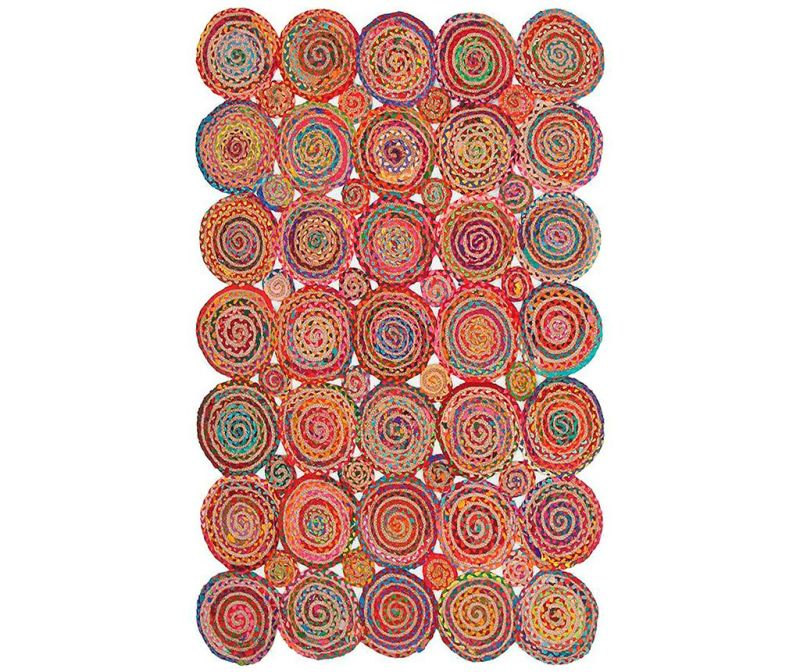 Covor Spiral Cluster Multi 90x150 cm