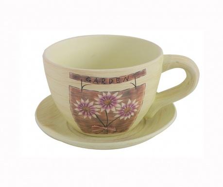 Σετ γλάστρα με πιατάκι Margaret Cup