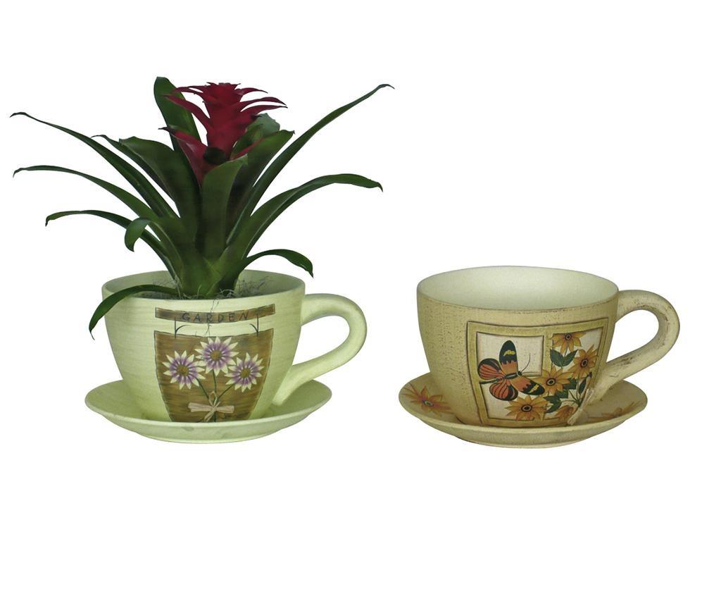 Květináč s podnosem Margaret Cup