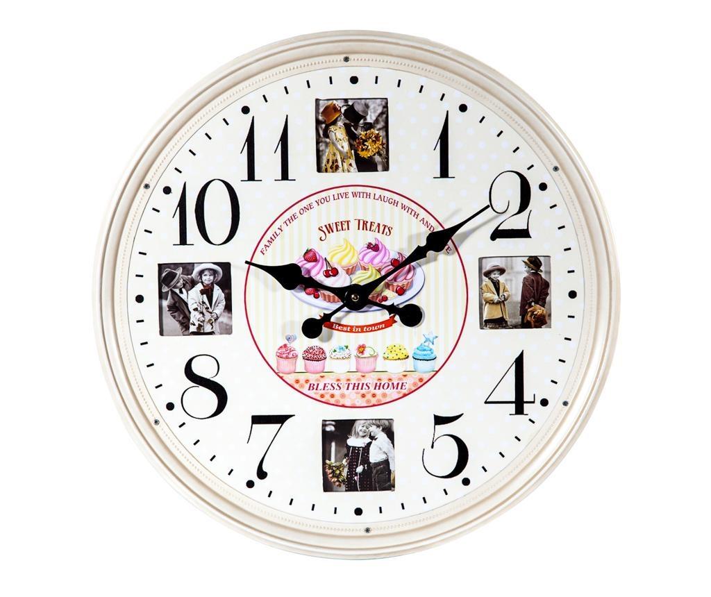 Zidni sat s okvirom za slike Memories