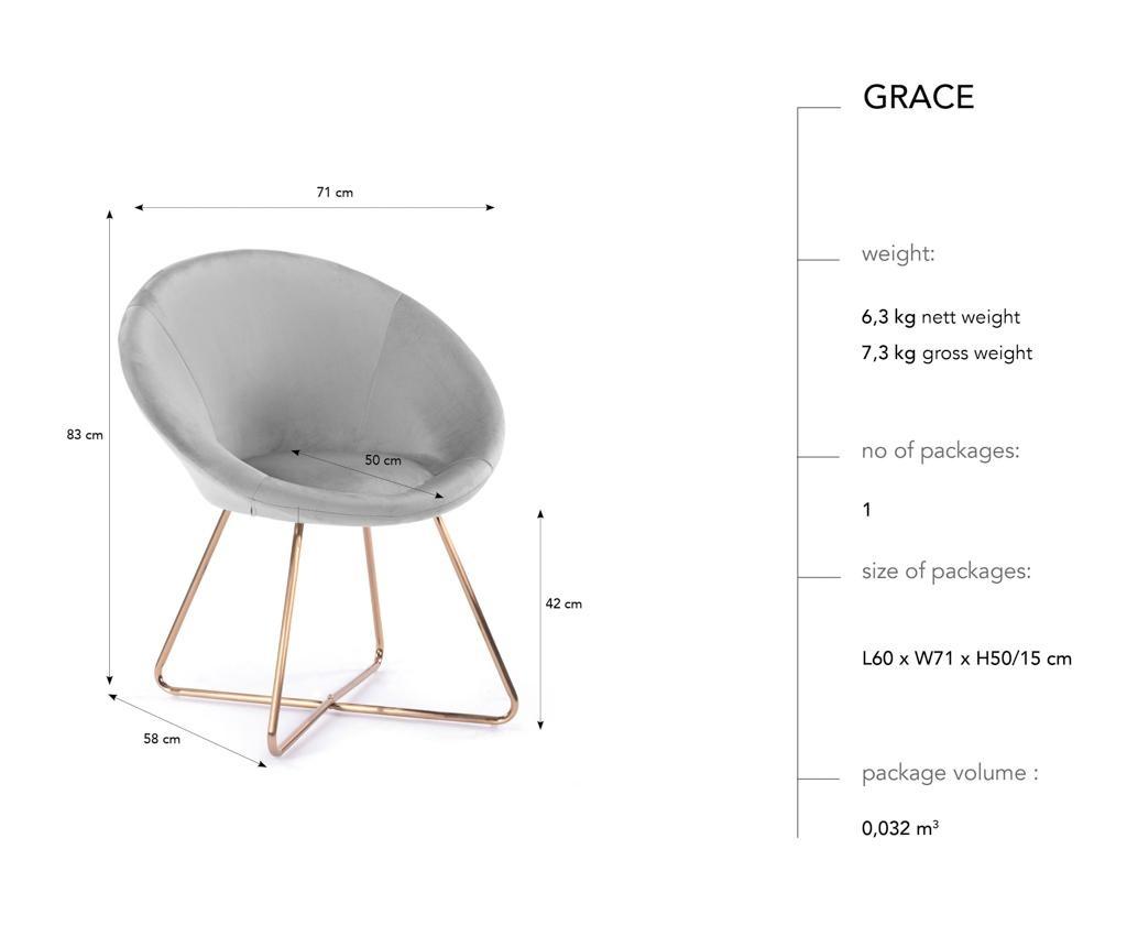 Krzesło Grace Pale Rose
