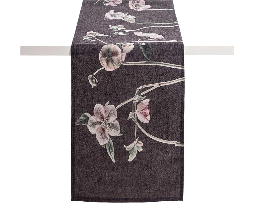 Namizni tekač Anemones Dark Grey 40x160 cm