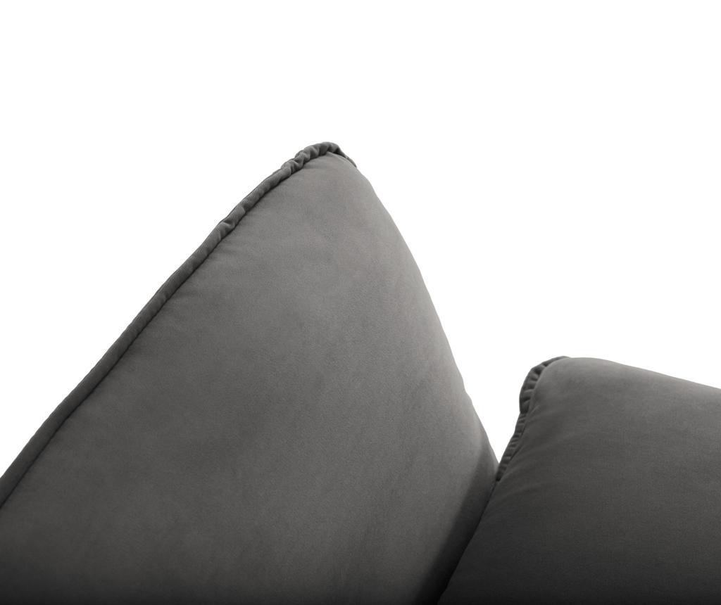 Desna kutna garnitura Vienna Dark Grey