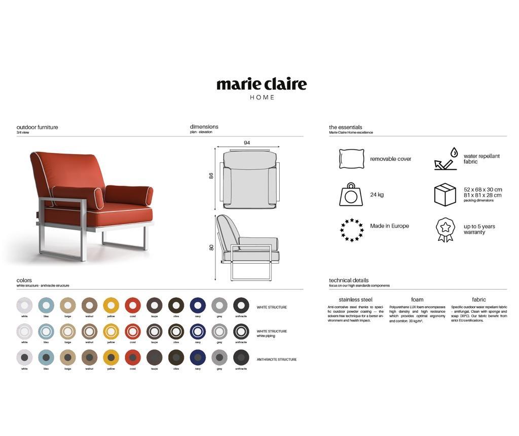 Marco Yellow Kültéri szék